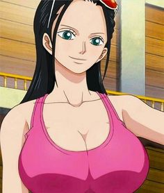 black_hair blue_eyes breasts cleavage eyewear_on_head female large_breasts long_hair nico_robin one_piece screencap solo stitched sunglasses tank_top upper_body One Piece Anime, Nami One Piece, One Piece Fanart, Anime One, Nico Robin, Cosplay One Piece, Female Characters, Anime Characters, Manga Anime