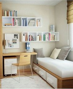 57 Modern Small Bedroom Design Ideas For Home. It used to be very difficult to get a decent small bedroom design but the times have changed and with the way in which modern furniture and room design i. Small Bedroom Hacks, Small Bedroom Organization, Small Bedroom Designs, Small Room Decor, Small Room Bedroom, Trendy Bedroom, Tiny Bedrooms, Master Bedroom, Cozy Bedroom