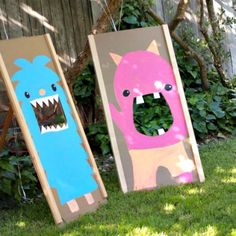 Monster party - I like the fur on the photo op monsters! Monster Kids Party Monsters Outdoor Party Ideas and Entertaining Monster Birthday . Monster Birthday Parties, Monster Party, Monster Games, Monster Mash, Cookie Monster, Outdoor Games For Kids, Outdoor Fun, Outdoor Party Games, Outdoor Crafts