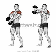 Workout Routine For Men, Gym Workout Tips, Workout Videos, Full Body Dumbbell Workout, Muscle Building Workouts, Sports Training, Shoulder Workout, Wellness Fitness, Muscle Fitness