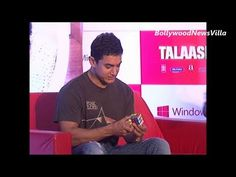aamir khan solves rubiks cube in around 100 seconds.