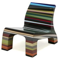 idea: layer any materials (esp. recycled) in interesting colors, etc. - Rhino Chair Layers by Richard Hutten Art Furniture, Funky Furniture, Furniture Upholstery, Unique Furniture, Shabby Chic Furniture, Furniture Design, Furniture Buyers, Colorful Chairs, Cool Chairs