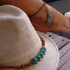 Skull Multiuse String Jewelry  Anklet Bracelet and Necklace by Rum Cay Island Jewelry