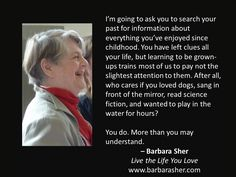 BarbaraSher (@BarbaraSher) | Twitter https://web.facebook.com/LiveLifeYouLoveBarbaraSher/ www.barbarasher.com