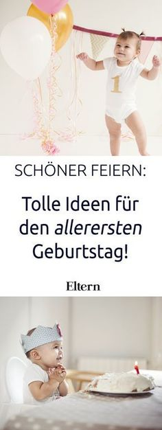 Der allererste Geburtstag A very special day: The first birthday! One year ago your child was a tender, fragile newborn – and now your baby [. Baby Party, Baby Shower Parties, Breastfeeding Techniques, Baby Zimmer, Baby Co, Diy Baby, Diy Gifts For Kids, Baby Kind, First Baby