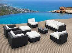 Outdoor Patio Furniture Wicker Sofa Sectional Resin Couch Set Item# 5439 – … - All For Garden Cheap Patio Furniture, Best Outdoor Furniture, Garden Furniture, Simple Furniture, Furniture Cleaning, Inexpensive Furniture, Wicker Furniture, Outdoor Rocking Chairs, Outdoor Couch