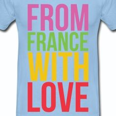 T shirt bleu c homme from france with love - Tee shirt Homme