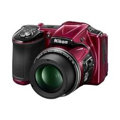 Nikon COOLPIX L830 16 MP CMOS Digital Camera with 34x Zoom NIKKOR Lens and Full 1080p HD Video (Red) (Certified Refurbished) - For Sale