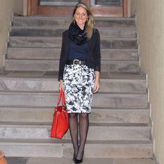 Look de trabalho - look do dia - look corporativo - moda no trabalho - work outfit - office outfit -  fall outfit - frio - look de outono - preto e branco e vermelho - black and white - red