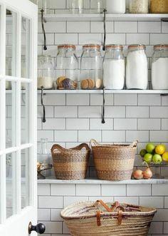 carrelage blanc pour la cuisine