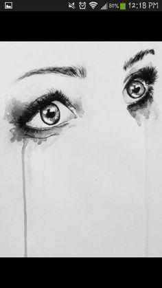 The eyes tell all Art Lessons, Best Quotes, Songs, Eyes, Feelings, Depressing, Drown, Music Lyrics, Dark