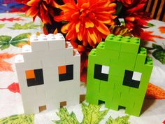 LEGO Custom Halloween Lot of 2 Ghosts pacman by ConroyCreationsLLC