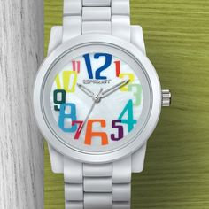 Natural Luxe - sprout watches - white corn resin numbers watch