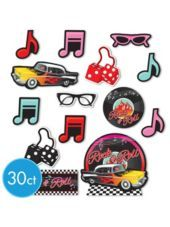 Classic 50s Cutouts 30ct - Party City