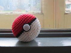 "PokeBall - Pokemon Device - Free Amigurumi Pattern - PDF Format - Click to ""download"" here:  http://www.ravelry.com/patterns/library/pokeball-8 Tiny Pokeball here: http://www.ravelry.com/patterns/library/tiny-pokeball"