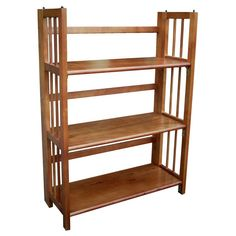 Have to have it. 3-Tier Stackable Folding Bookcase - Oak - $61.98 @hayneedle.com