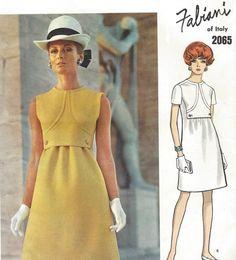 1960s Fabiani Womens Mod One Piece Dress No Side by CloesCloset
