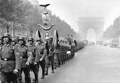 German Soldiers Marching in Paris
