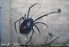 Urban Art a la cARTe: Street Art by Dirty (20) - Spider Street Art London, Weston Super Mare, Bethnal Green, 4th Street, Brick Lane, Croydon, Art Uk, Gloucester, Byron Bay