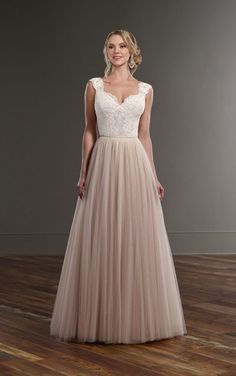 Bryn + Scout Tulle skirt illusion lace wedding separates by Martina Liana Wedding Dresses