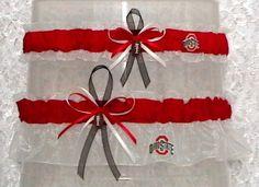 Love it!! Ohio State Buckeyes Wedding Garter Set by narfer99 on Etsy, $22.00