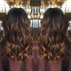 Choclate brown with golden, Carmel balayage highlites