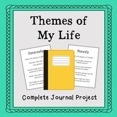 Themes of My Life. Autobiography Notebook Journal for Language Arts, English, Creative Writing, Philosophy, Psychology, Social Studies, Sociology, Social Sciences, English, Language Arts.This is a great Friday journal project to work on throughout the entire year or for the end of the year to keep the class on task!