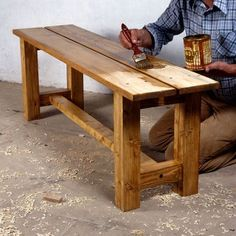 how to make a solid wood bench #woodbench