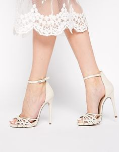 5b7a0905ae7 ASOS COLLECTION ASOS HARPIST Heeled Sandals Satin Wedding Shoes