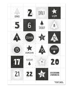 Free Printables Numbers for the DIY Advent calendar to print. Planner Stickers, Monthly Planner Printable, Printable Calendar Template, Free Printables, Print Calendar, Calendar Design, 2021 Calendar, Deco Harry Potter, Diy Advent Calendar