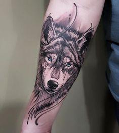 Tattoos For Males 2020 - Small Geometric Tattoo, Tribal Wolf Tattoo, Geometric Tattoos Men, Wolf Tattoo Design, Wolf Sleeve, Wolf Tattoo Sleeve, Arrow Tattoo, Sleeve Tattoos, Tribal Sleeve