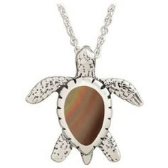 Jewelry Sterling Silver 20 Necklace with Small Turtle Pendant - Bronze Mother of Pearl Opinion