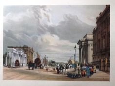 """London As It Is - 1954 - """"""""HYDE PARK CORNER"""""""" - Large Topographical Lithograph"""