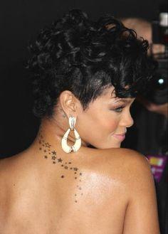 Rihanna Stars Tattoo