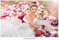 on location bridal shoot,flowers