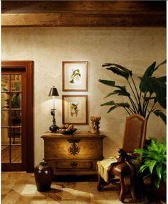 British Colonial vignette- palm tree in corner is fantastic! West Indies Decor, West Indies Style, British Colonial Decor, British Decor, Estilo Colonial, Decoration, Interior Design, Vintage Safari, Tropical Decor