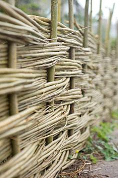 wattle edging | Woven Willow Fencing