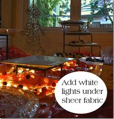 different heights for buffet tablescapes - Google Search