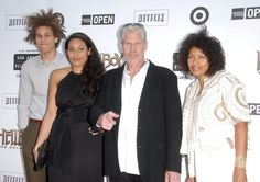 "Ron Perlman, wife Opal, daughter Blake and son Brandon at the ""Hell Boy II world premier"