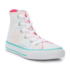Girls' Converse Chuck Taylor All Star Winter Floral High Top Sneakers, Size: 13, Natural