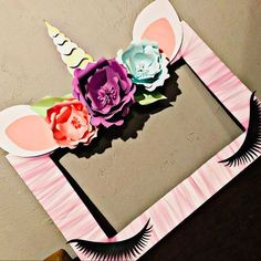 Unicorn Party: Michelle loved their purchase from WishUponAFlowerShop #unicornparty #unicornpartyideas #unicorndecorations #unicornbirthday #unicornphotoframe #unicorn #unicorns #unicornbackdrop #unicornface #unicornhorn #unicornears #unicornlashes
