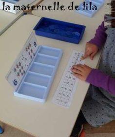 la maternelle de Lila, boîtes à compter