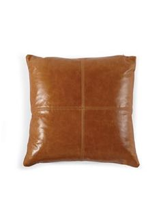 Ditto for this Single Leather Patchwork Pillow, $170, via @MGBWHome.