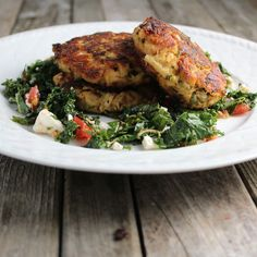 Tuna Cakes With Jalapeño And Cilantro | Taste And See : Serve with Roasted Kale with feta salad and sriracha aioli.