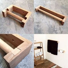Diy Wood Projects, Home Projects, Wall Design, Diy Design, Bathroom Accessories, Home Accessories, Toilet Roll Holder, Metal Fabrication, Everyday Objects