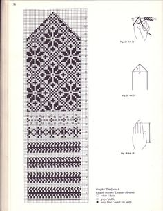 Cimdu raksti - Rokdarbu grāmatas un dažādas shēmas — draugiem. Knitted Mittens Pattern, Fair Isle Knitting Patterns, Knit Mittens, Knitting Charts, Knitted Gloves, Knitting Yarn, Hand Knitting, Wrist Warmers, Hand Warmers