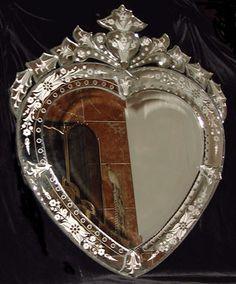 heart- shaped Venetian Mirror