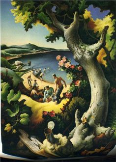 Picnic Thomas Hart Benton    Read up on Benton, if you don't know him.  One of America's premiere artists!