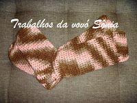 Trabalhos da vovó Sônia: Meias de inverno para adulto - 2 modelos - crochê
