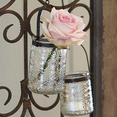 Hanging Glass Tealight Holders, cute :)
